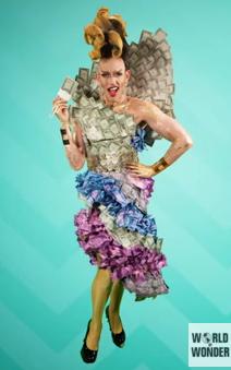 Acid Betty representing the Money Ball