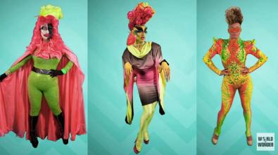 Kim Chi, Acid Betty and Naysha Lopez' Neon Looks!
