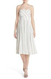 Nordstom 'Nina' Stripe Strapless Culotte Jumpsuit (Greylin): £98.79