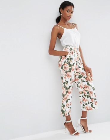 ASOS Wide Leg Floral Culottes Co-ord: £40.00