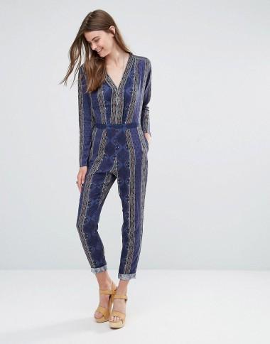 ASOS Pepe Jeans Juliene Print Jumpsuit: £80