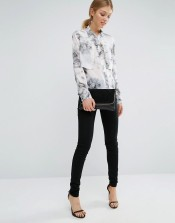 Vero Moda Tall Marble Layered Shirt: £20.00