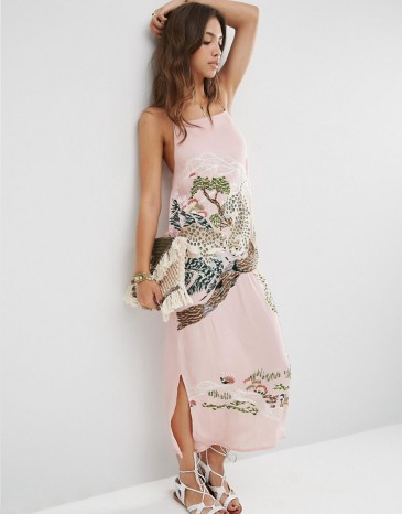 ASOS PREMIUM Ocelot Slip Dress: £85.00